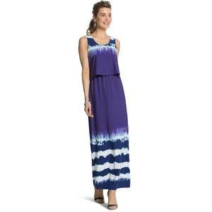 Chico's tie dye maxi dress size Large